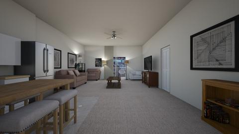 Corner Loft Apartment - Living room  - by mspence03
