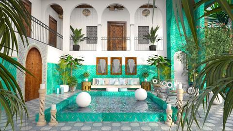 Morrocan Riad - Garden  - by smunro7