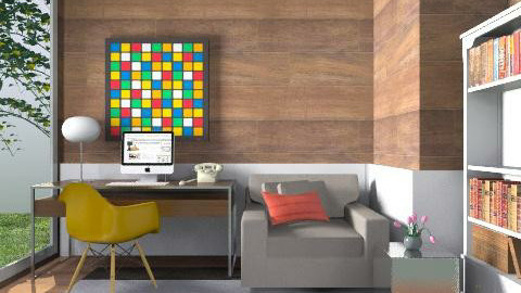 Study-Woody - Modern - Office  - by 3rdfloor