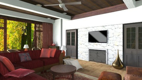 living roomm - Rustic - Living room  - by mire roig