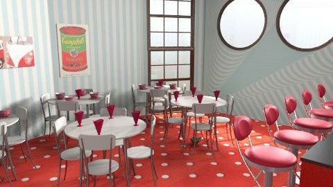 Ice cream Parlor - Retro - by emilypinnock