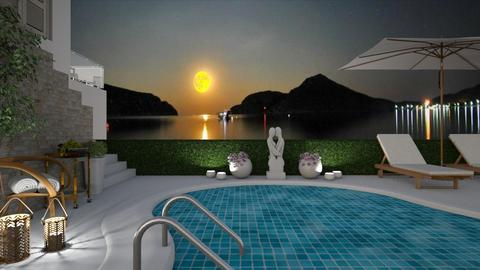 Under The Moonlight - Garden  - by bigmama14