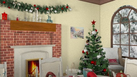Country christmas_the festive table - Country - Living room  - by katie xxxxx