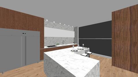 wooden kitchen - Kitchen - by avivalouf272