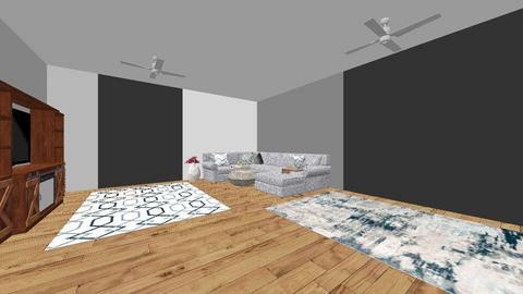 great room - Modern - Living room  - by ryangeray