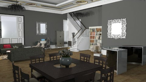 NYC Penthouse 3 - Glamour - Living room  - by camilla_saurus