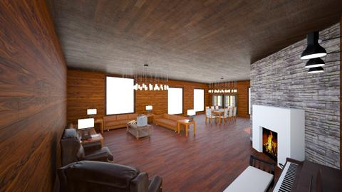 Living Room Dining room - Rustic - by Fe4r_Me