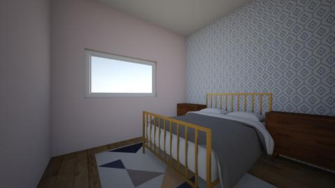 Wallpaper Peach Room - Modern - Bedroom - by ClaireCora