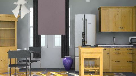 Classi NYC Apartment pic . 4 (kitchen) - Country - Kitchen  - by tromfrog101
