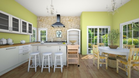 Lime chiffon - Country - Kitchen  - by talialodaya