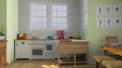 ;ol - Country - Kitchen  - by sarahl