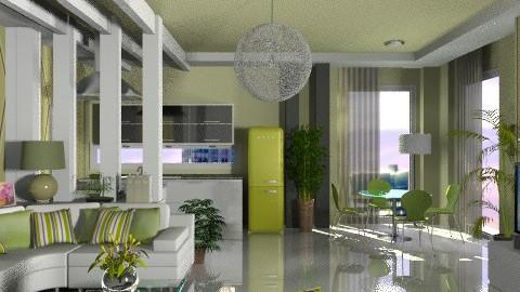 Modern lime... - Modern - Living room  - by KittiFarkas
