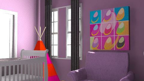 purple dream - Classic - Kids room - by lisa323com
