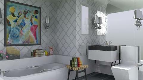 Black vs. White - Modern - Bathroom  - by AlSudairy S