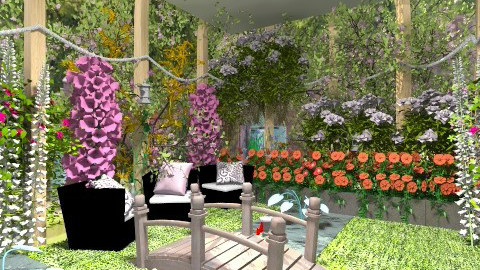 springtime - Classic - Garden  - by kafele