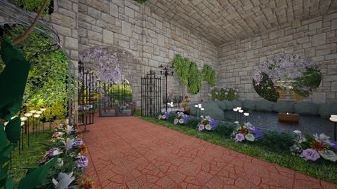 Cherry Blossom Garden - Garden - by Gab71892