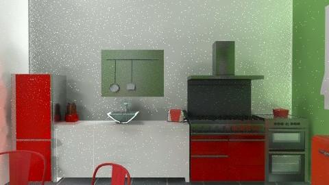 neat kitchen - Minimal - Kitchen  - by laurabeacham97