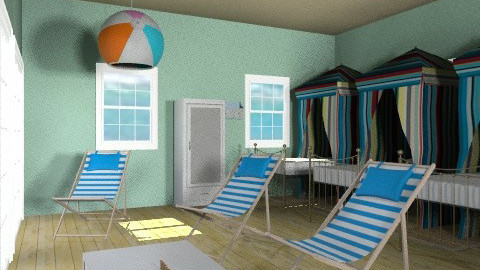Surf Camp - Rustic - Bedroom  - by goldengirllover