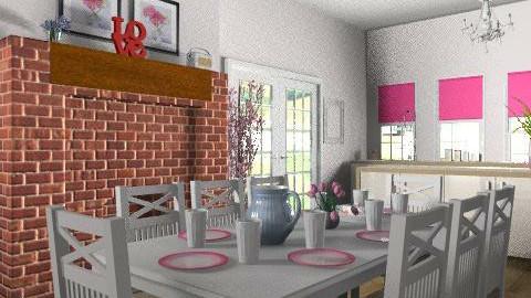 Pink kitchen - Country - Kitchen  - by yasemin04