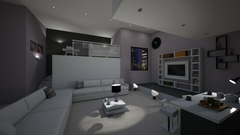 Living and Bedroom  - Retro - by mariateresadrago