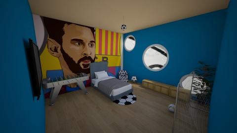 Teens football bedrom - Bedroom  - by Hamzah luvs cats