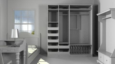 White room - Minimal - Bedroom - by misslynn170