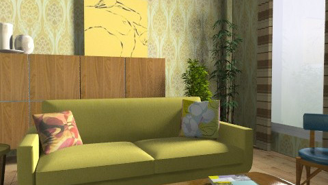 retro - Retro - Living room  - by fre82