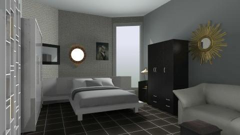 my bed room - Retro - Bedroom  - by Deepa venkataramanan