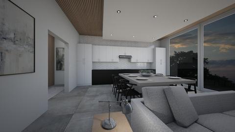minimalist and neutral pallette - Kitchen  - by erladisgudmunds