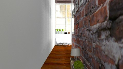 Entry in the Warehouse Apartment - Vintage - Hallway  - by Carliam