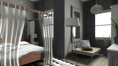 Bedroom Grey - Eclectic - Bedroom  - by hunny