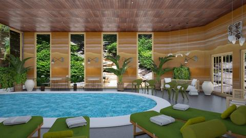 hotel pool Colorado - by steker2344