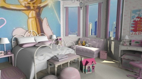 sailor moon remake - Kids room - by annagunbina