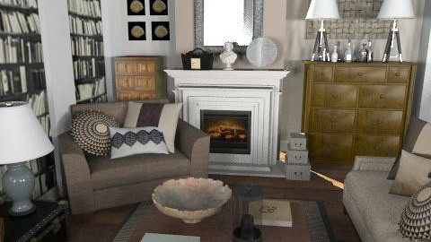 Oakwood - Rustic - Living room  - by laurawoodley