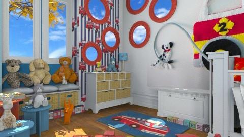 Firetruck - Kids room  - by TammieLynne