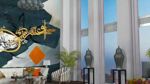 """Dream of Arabian Letters"" - Glamour - Living room  - by AlSudairy S"