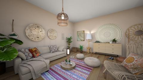 bohemian living room - Rustic - Living room  - by meriredbika