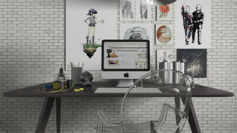 Desk Space - Modern - Office  - by champorado