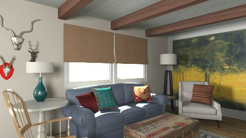 Colbert Barn - Rustic - Living room  - by MaryFerrisFDC