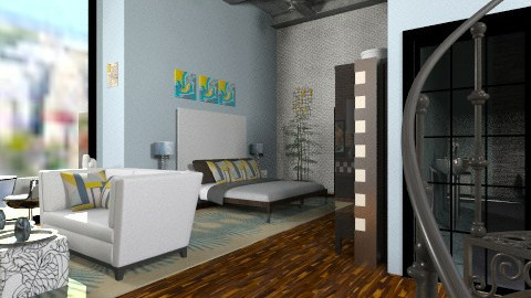 Kool NY Mst Bed and Bath - Eclectic - by decordiva1