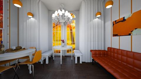 White_Orange Restaurant - Retro - by bleeding star