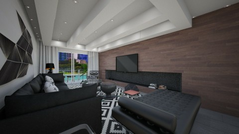 black design - Living room - by Talles Paganotti