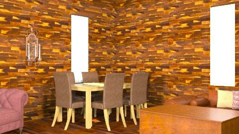 Ranch snug - Rustic - Living room  - by heehee