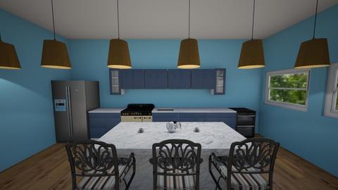 Blue Kitchen Style - Kitchen  - by Maireni B Petaluma