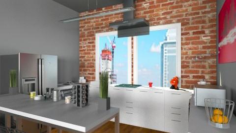 Studio Apartment_kitchen - Eclectic - Kitchen  - by idesine