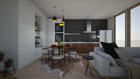 modern eclectic kitchen - Kitchen - by willhenning