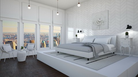 White Master Bedroom - by stingraygirl