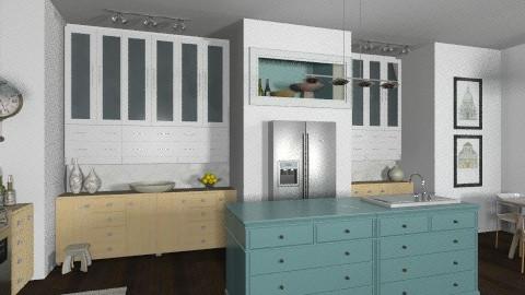 Teal Island Kitchen - Kitchen  - by LizyD