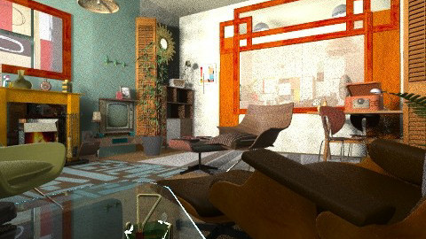 50 50 remix - Retro - Living room  - by katmills98