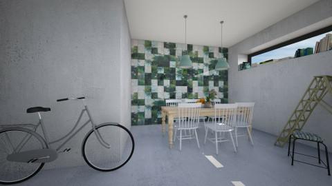 Concrete Garden - Eclectic - Dining room  - by Maria Esteves de Oliveira